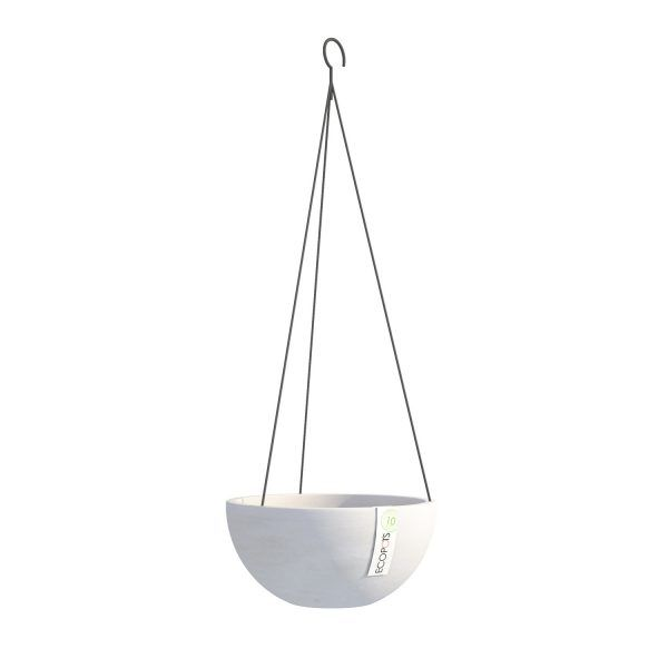 ECOPOTS Brussels Hanging basket White