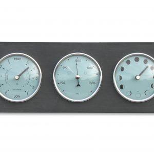Moon, tide clock and barometer horizontal