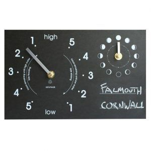 Writable moon and tide clock