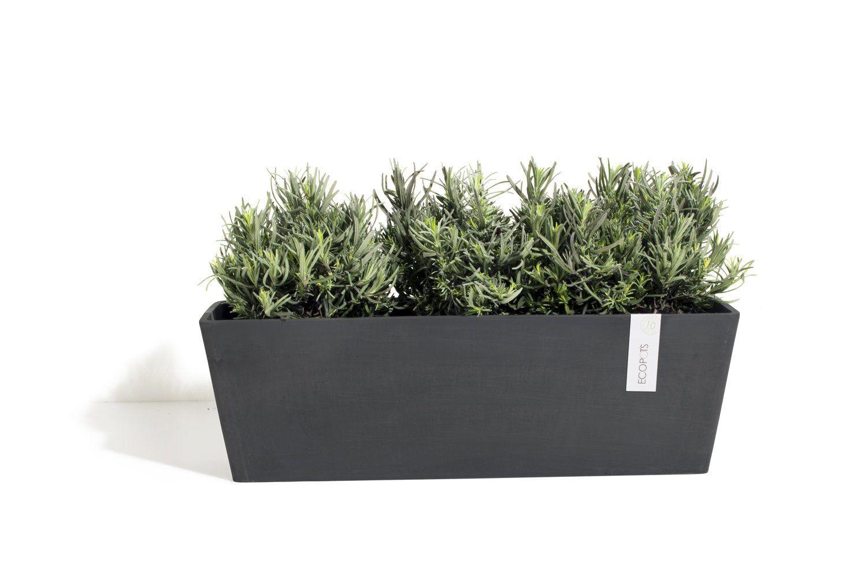ECOPOTS Bruges rectangular planter Black