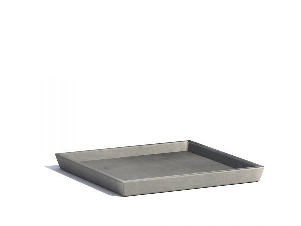 Saucer for ECOPOTS Rotterdam Grey