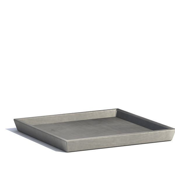 Saucer for ECOPOTS Rotterdam Grey