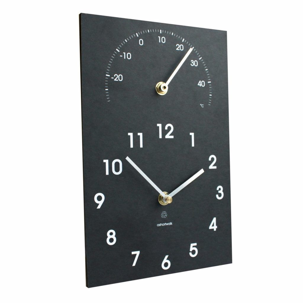 Clock with thermometer
