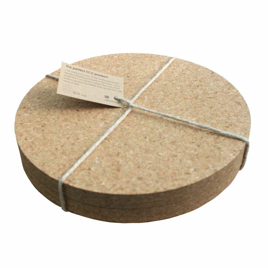 Placemat round cork set x 4