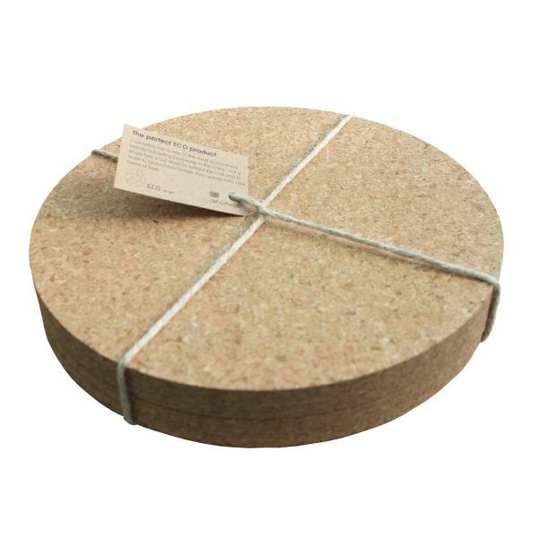 Placemat round cork set x 4