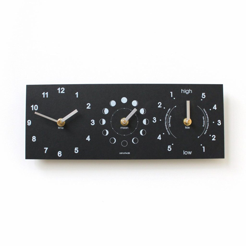 Moon, time and tide clock
