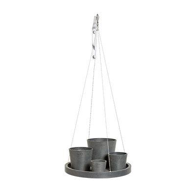 Hanging Saucer Grey ECOPOTS