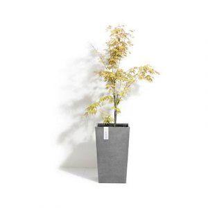 ECOPOTS Rotterdam MH tall square planter Grey