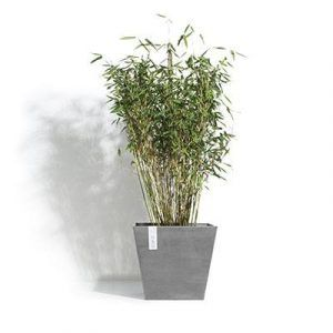 ECOPOTS Rotterdam square planter Grey