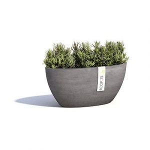 ECOPOTS Sofia oval flower pot Grey