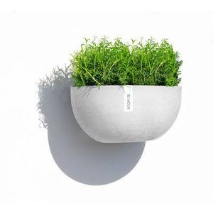 ECOPOTS Sofia Wall hanging flower pot White