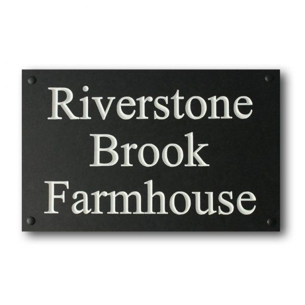 House Nameplate Triple Line