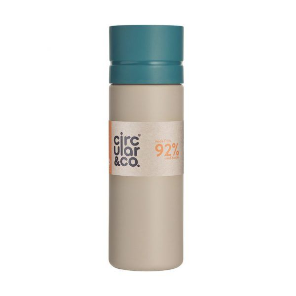 Circular&Co. Reusable Water Bottle chalk and teal