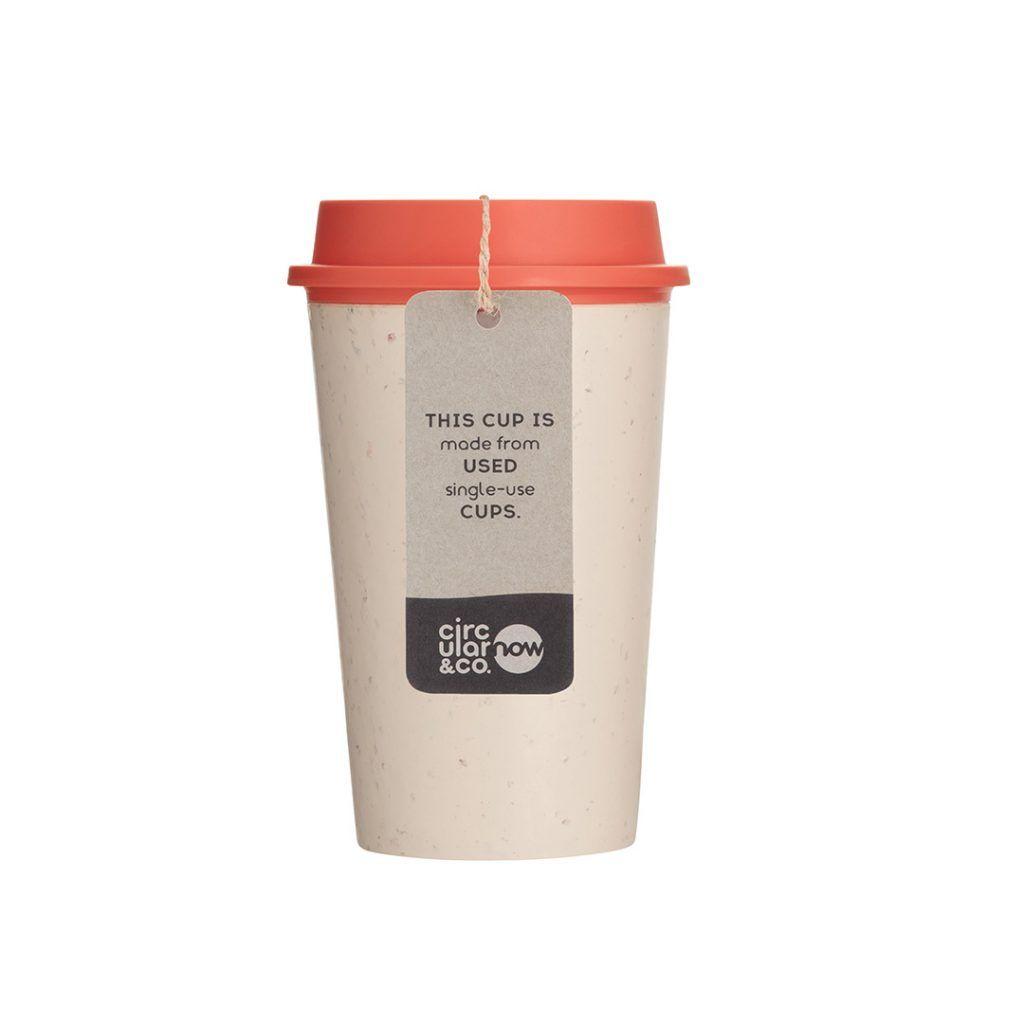 Circular NOW Reusable Coffee Cup Coral